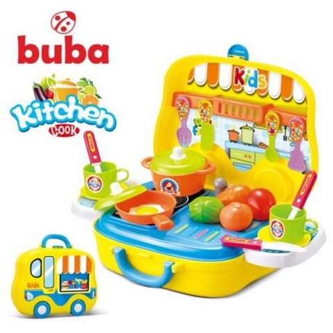 Buba - Kitchen Cook малка детска кухня жълта