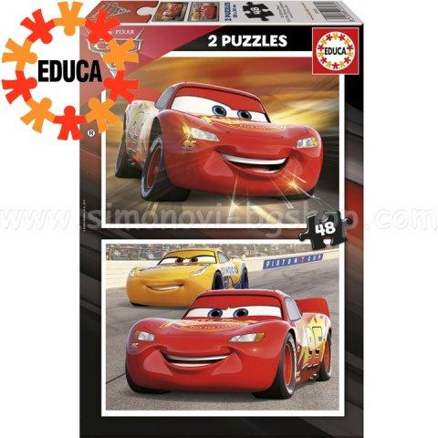 Educa - 17177 Пъзел 2x48  ел. CARS 3