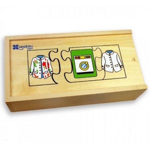 """Andreu Toys - Пъзели """"Последователности"""" в дървена кутия"""