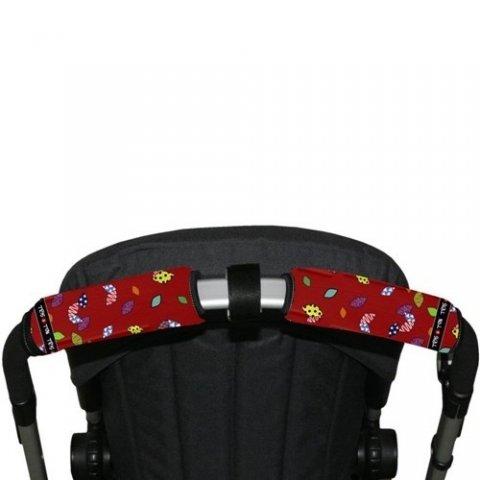Tris & Ton - Протектор за хоризонтална дръжка на количка с разделител, принт Бухалче