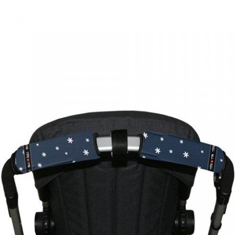 Tris & Ton - Протектор за хоризонтална дръжка на количка с разделител, принт Приятели
