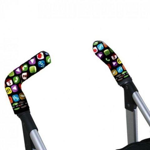 Tris & Ton - Протектор за вертикални дръжки на количка с принт телефон