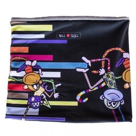 Tris & Ton - Детска шал-яка с принт маймунки