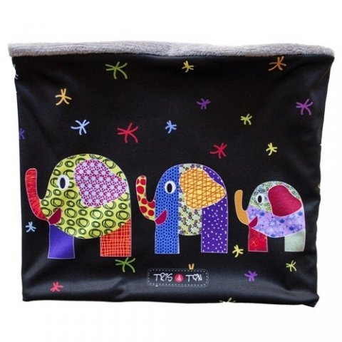 Tris & Ton - Детска шал-яка с принт слончета