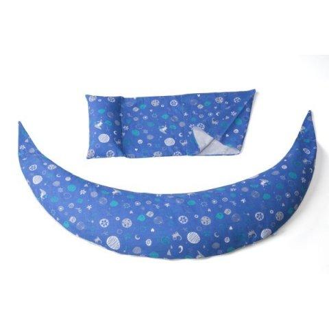 Nuvita - DreamWizard 10в1 възглавница за бременност и кърмене тъмно синя