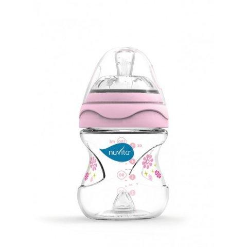 Nuvita - Mimic шише за хранене 150 мл розово