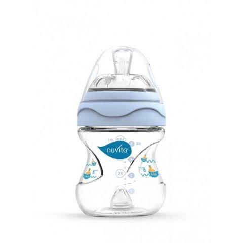 Nuvita - Mimic шише за хранене 150 мл синьо