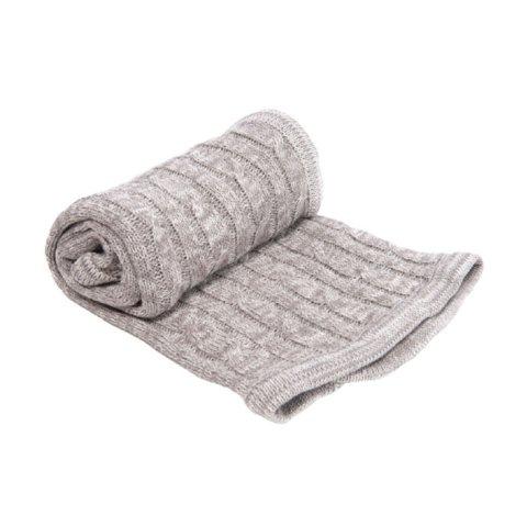 Kikkaboo - Плетено одеяло меланж сиво