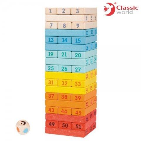 Classic World - Дървена цветна кула за нареждане