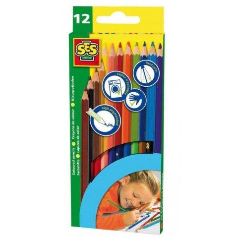 SES - Комплект моливи 12 цвята