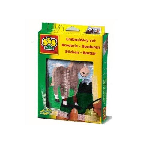 SES - Комплект за бродиране Цветен кон