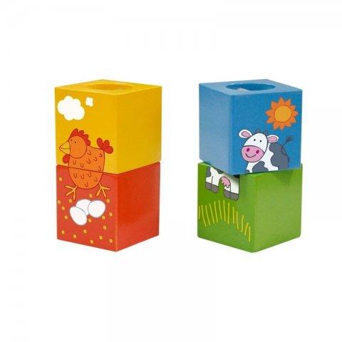 Classic World - Дървени  кубчета тип пъзел