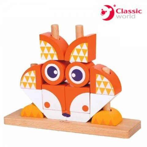 Classic World - Пъзел кубчета лисица