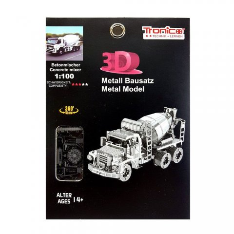 Tronico - 3D метален пъзел Бетоновоз