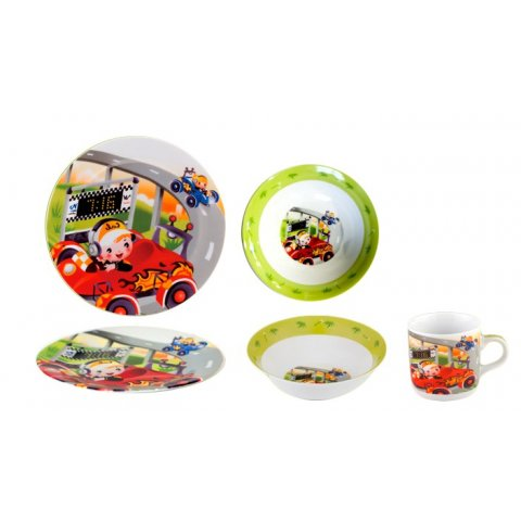 Детски сервиз за хранене 3 части - състезател (C024)