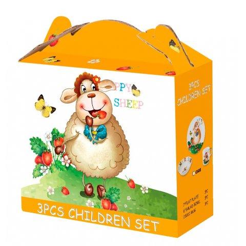 Детски сервиз за хранене 3 части - щастливата овца (C305)