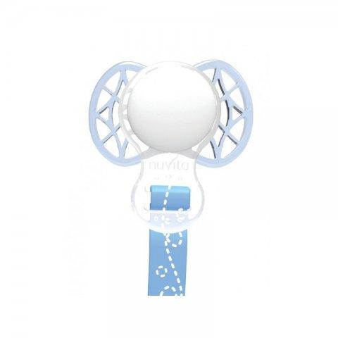 Nuvita - Клипс за биберон със силиконов ринг син