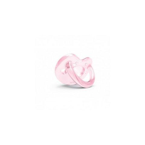Nuvita - Анатомична силиконова биберона розова