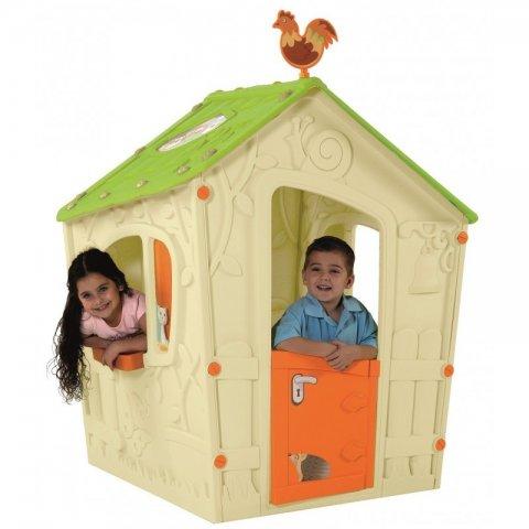Keter - Пластмасова къща за игра Magic Playhouse Бежова/Зелена