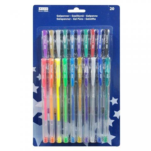 Sense - Цветни гел химикалки, 20 бр.