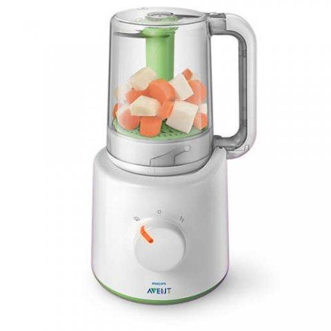 AVENT - Малък комбиниран уред за готвене на пара и блендер