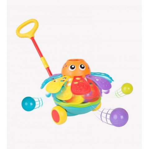 Playgro - Активна играчка за бутане с топчета - Октопод (12-36м)