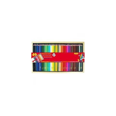 Sense - Цветни моливи - 40 бр. в дървена кутия