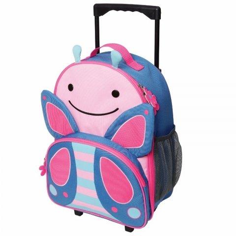 Skip Hop - Детска чанта на колела Zoo Luggage - Пеперудката Блосъм