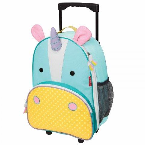 Skip Hop - Детска чанта на колела Zoo Luggage - Еднорогът Юрика