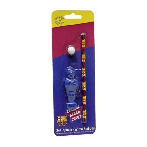Derform - FC Barcelona Джаги-комплект (гума-футболист, молив НВ, гума-топка)