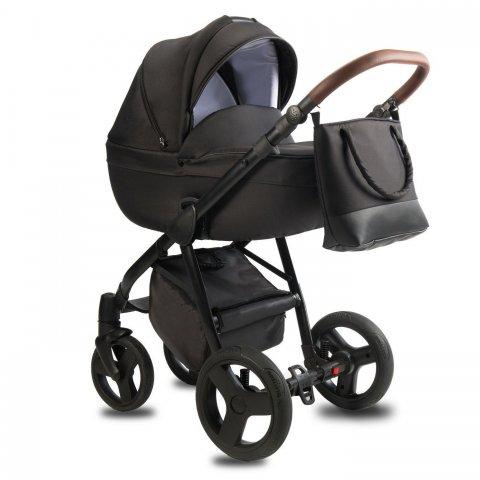 Qumes - Детска количка Bera 2 в 1 - NOIR BLACK BRUNO