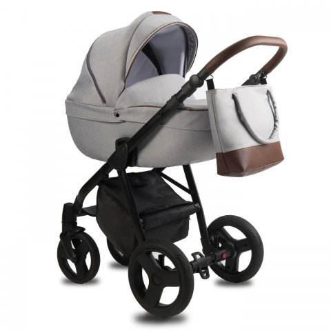 Qumes - Детска количка Bera 2 в 1 - GRIGIO GRAY