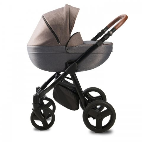 Qumes - Детска количка Bera 2 в 1 - GRIGIO BRUNO