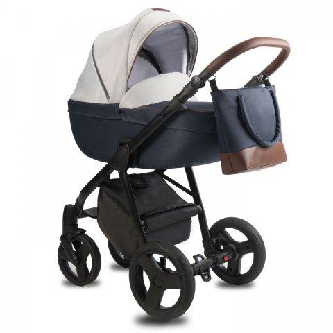 Qumes - Детска количка Bera 2 в 1 - COBALT GRIGIO