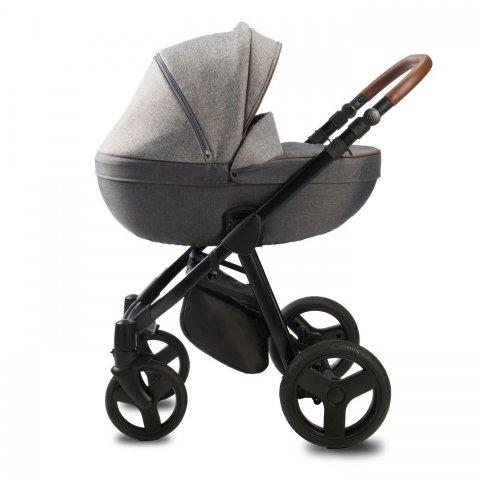 Qumes - Детска количка Bera 2 в 1 - GRIGIO NOIR